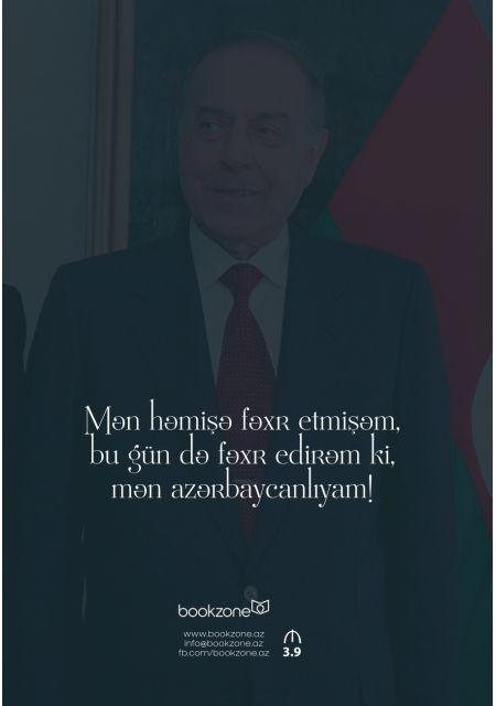 """""""Heydər Əliyev"""" şəkilli qeyd kitabçası"""